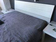 Double bed with head board and frame