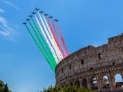 Italy's Frecce Tricolori jets go on nationwide tour