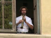 Rome musicians perform free concerts from theatre windows