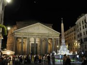Rome lights up Pantheon to backdrop of Morricone music