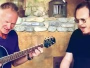 Sting and Zucchero sing Fields of Gold in Italian