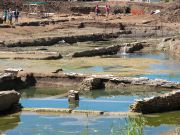 Rome archaeologists discover ancient stone pool