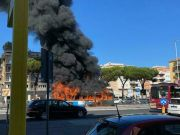Rome bus bursts into flames near Vatican