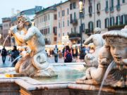 Rome fountain vandalised in Piazza Navona
