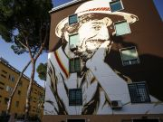 Rome remembers Gigi Proietti with street art