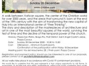 C-ROME | Next tour: Vatican Square and its Surroundings, December 20 | 10.30-13.30