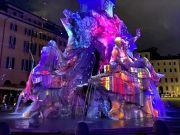 Rome illuminates Piazza Navona fountains with light shows for Christmas