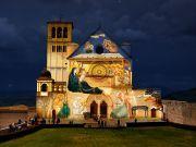 Italy: Assisi lights up Basilica with Giotto frescoes for Christmas