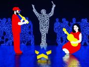 Italy: Uffizi lights up with pop star Christmas Nativity scene