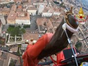 Italy: Saint's statue flown over town after processsion ban