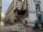 Italy: Church partially collapses in central Naples