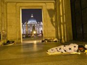 Pope prays for homeless man found dead from the cold near St Peter's
