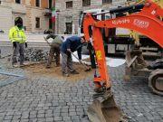 Rome plants trees in Piazza S. Silvestro