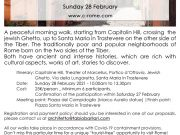 Jewish Ghetto & a walk in Trastevere - Sunday 28 February 2021