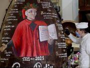 Naples celebrates Dante with giant Easter egg