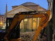 Rome repaves piazza at tourist-free Pantheon