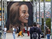 Luana remembered in Rome mural by Jorit