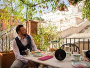 Tea on terrace over Rome's Spanish Steps to celebrate Keats and Shelley
