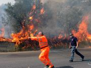Wildfires rage in south of Italy amid record heatwave