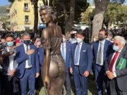 Sapri: Italy sexism row over statue in see-through dress