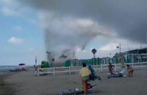Rome beach hit by mini tornado