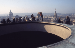 Walking on the cupola of the Pantheon