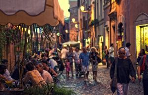 A night out in Trastevere
