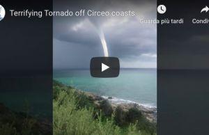 Terrifying Tornado off Circeo coasts