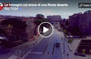Drone footage of a completely empty Rome