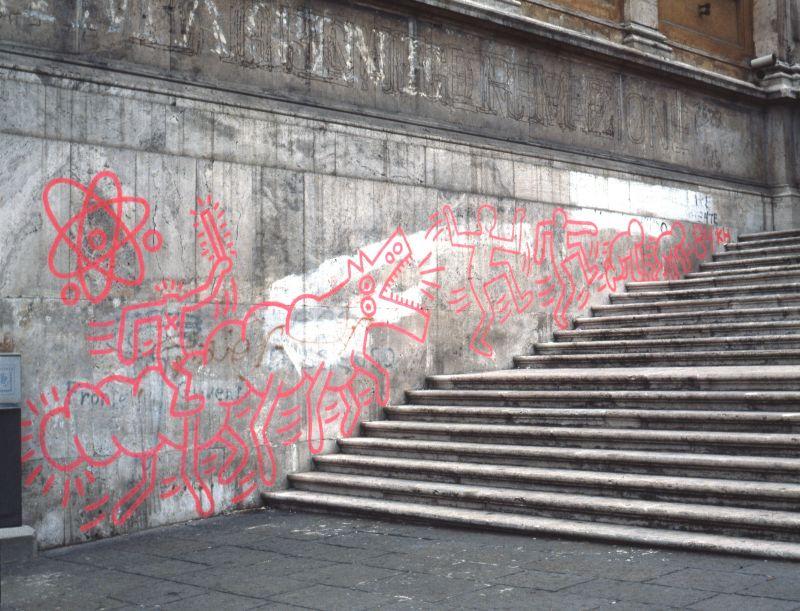 Keith Harings Long Lost Mural At Palazzo Delle Esposizioni Photo Stefano Fontebasso De Martin