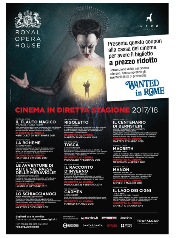 Royal Opera House - Special offers for WIR Holders - Wanted in Rome
