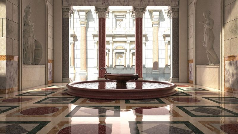 3D visits of Rome's Baths of Caracalla - Wanted in Rome on sauna home, quote home, england home, steam room home, gym home,