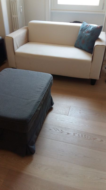 compact 2 seat sofa storage ottoman wanted in rome. Black Bedroom Furniture Sets. Home Design Ideas