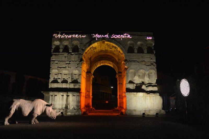 Alda Fendi Opens Rhinoceros In Central Rome Wanted In Rome