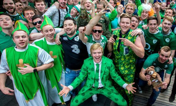 a35351af23c Irish rugby fans in Rome for Six Nations - Wanted in Rome