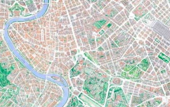 Mario Camerini: illustrator of Rome maps - Wanted in Rome on buenos aires map, internet map, word map, world map, print map,