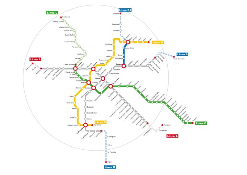 Rome Italy Subway Map.Rome Revives Plan For Metro D Wanted In Rome