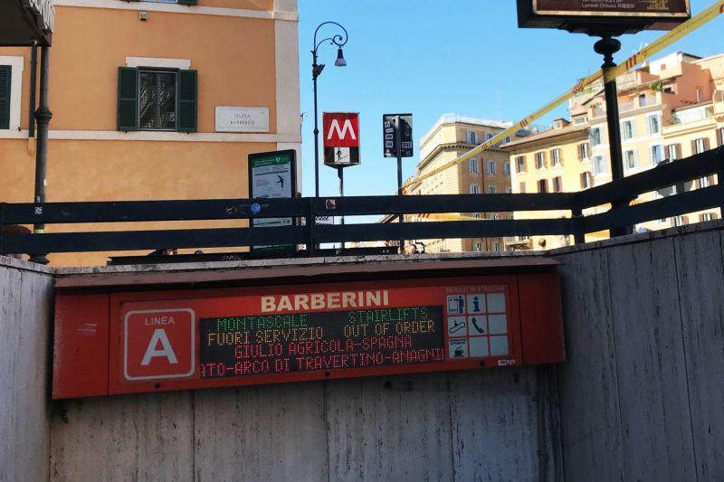 Rome S Barberini Metro Station To Half Open In December