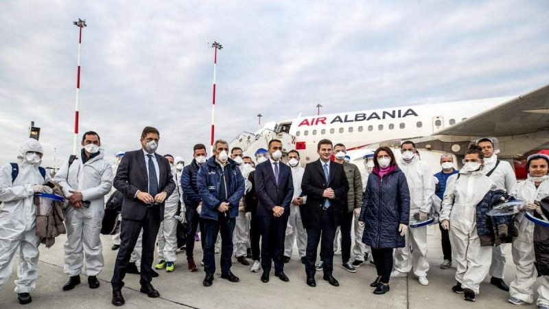 Coronavirus: Albania sends doctors to help Italy - Wanted in Rome