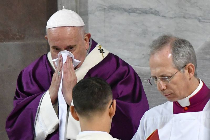 Pope Francis tests negative for coronavirus after canceling events due to illness