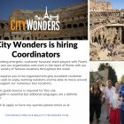 City Wonders are hiring Coordinators!
