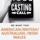 Movie Casting- Male 45-75 yrs - American/Irish/British/Australian ONLY