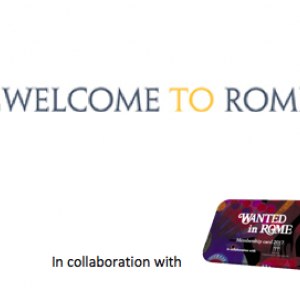 Free tickets for WelcomeToRome with the WIR Card